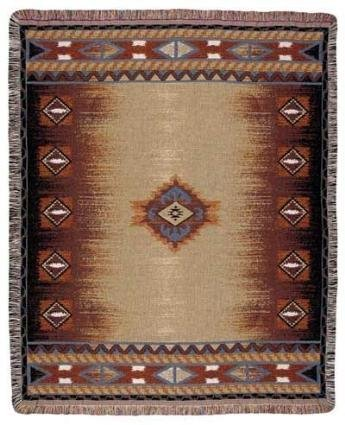 """Simply Home Southwest Design Tapestry Throw Blanket 50"""" X 60"""""""