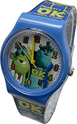 """Disney Monsters University Watch For Kids .Large Analog Dial. 9""""L Band."""
