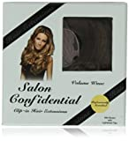 Salon Confidential Volume Wave Clip-In Hair Extensions Mid-Brown With Lightened Tips