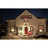 """Light Flurries LED Projector Brand New 2014 WeatherProof LED Version """"Not Halogen"""" Magical Falling Snowflakes Christmas Light Projector"""