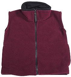 Kaynee - Little Boys Polar Fleece Vests, Wine 38349-4