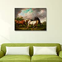 House Things Horses Canvas Print 29 X 20.56, Inches Wall Décor Art