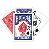 Bicycle Poker Size Jumbo Index Playing Cards (Colors May Vary)