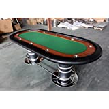 "96"" 10 Player Texas Holdem Poker Card Game Table BLUE or GREEN Felt"