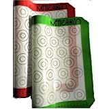 Mittelain Silicone Baking Mat (2 Pack) - with Mini Macaron Pattern - Made with materials from Germany - 53 Cookie Circles Per Sheet (Color: Red and Green, Tamaño: 2-pack, half-sheet, mini)