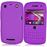 Supergets® Purple Keypad Silicone Case For Blackberry Curve 9360, Screen Protector And Polishing Cloth