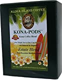 Senseo Pods of Kona Coffee, Estate Blend Medium Roast Coffee Pods for All Senseo-type Pod Brewers, 18 Pods, Reusable Adapter Available for Keurig K-cup Brewing Systems