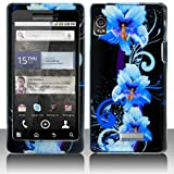 iNcido Brand Motorola DROID 2 A955 Cell Phone Blue Flower Cover Protective  ....