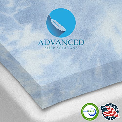 Gel Memory Foam Topper, Queen Size 2 Inch Thick, Ultra-Premium Gel-Infused Memory Foam Mattress/Bed Topper for Cooling, Conforming, and Comfort. Made in The USA (Plush Body Parts compare prices)
