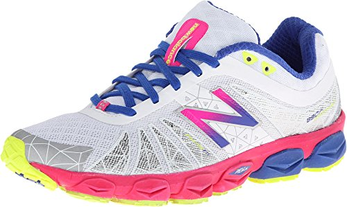 New Balance Women's W890 Neutral Cushioning Running Shoe,White/Purple,10 B US