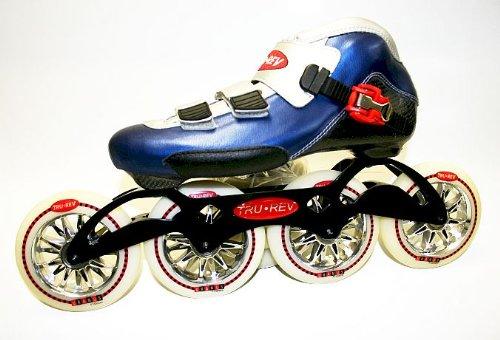Trurev Diamond Inline Skates- 4-110 195 Longmount- Size 7.5 Blue