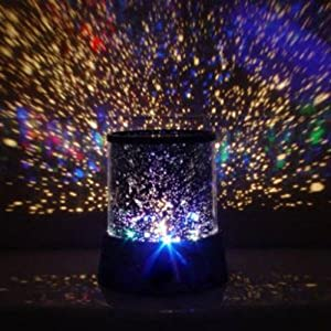 highlights LED Star Master Colorful Starry Night Cosmos Projector Bed Side Lamp by Beautymall
