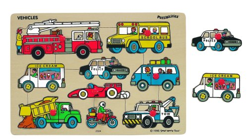 Small World Toys Ryan's Room Wooden Puzzles - Classic Vehicles