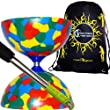 Jester Diabolos + Metal Diabolo Sticks, Diablo String & Travel Bag! Mix
