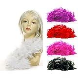 (AP24) Federboa PINK Feder Boa Samba Karneval Fasching Kostüm Deko Schal Party Feier 180 cm