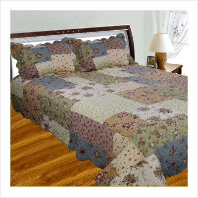 Bundle-53 Patchwork Square Quilt Collection Size: California King