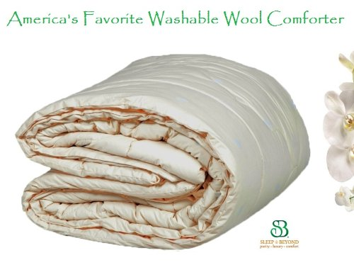 "Natural Washable Down Alternative Wool Comforter Queen 86X86"" front-878524"