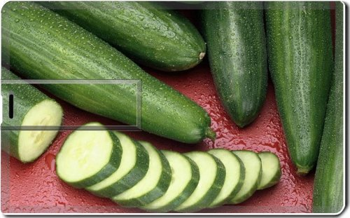 Cucumbers Vegetables Slices Healthy Food 4G Usb Flash Drive 2.0 Memory Stick Luxlady Usb Credit Card Size Customized Support Services Ready Windows Mac Storage External