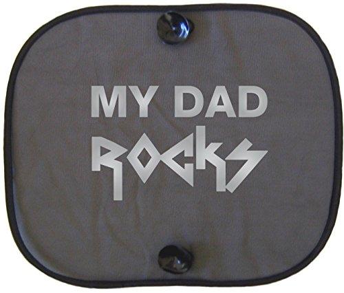 MY DAD ROCKS SILVER Auto parasole per bambini