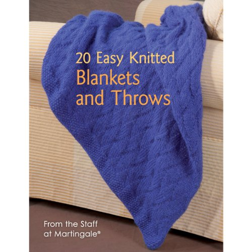 Martingale 20 Easy Knitted Blankets And Throws Book front-445524
