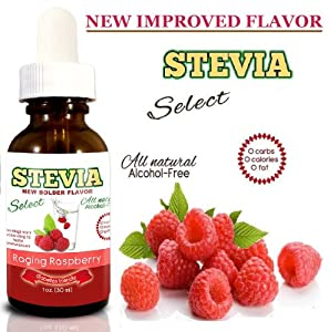 Water Flavoring-Stevia Water Enhancer - Raging Raspberry Stevia Extract Drink Flavoring - 15+ Sugar Free Drinks Per Bottle of Flavored Water Concentrate - NO Artificial Sweeteners! Made From Real Extracts- Reap The Benefits of Drinking Water For Healthy Way To Lose Weight - Satisfaction Guaranteed! BUY 2 SAVE MORE (see images)