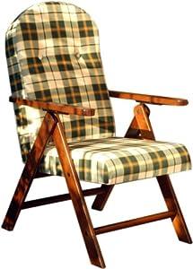 Poltrona sedia sdraio amalfi in legno reclinabile 4 - Sdraio da giardino ikea ...