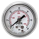 Winters P9S 90 Series Steel Dual Scale Pressure Gauge with Removable Lens, 0-60 psi/kpa, 1-1/2