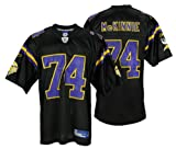Minnesota Vikings Bryant McKinnie #74 NFL Mens Replica Jersey, Black