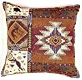 "Kokopelli Native American Decorative Throw Pillow 17"" x 17"""