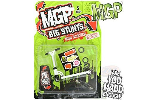 MADD MGP Big Stunts Mini Finger Scooter - Finger Whip Toy - WHITE by Madd Gear