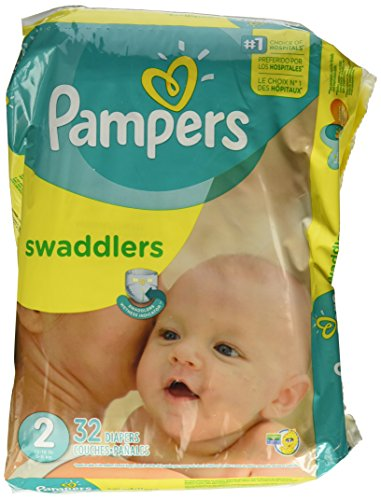 Pampers Swaddlers Diapers - Size 2 - 32 ct - 1
