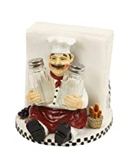 Chef Salt Pepper Shaker Napkin Holder Chalk Board by VistaWholesale
