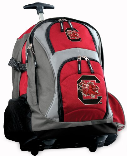 South Carolina Gamecocks Rolling Backpack Deluxe Red University Of South Carolin