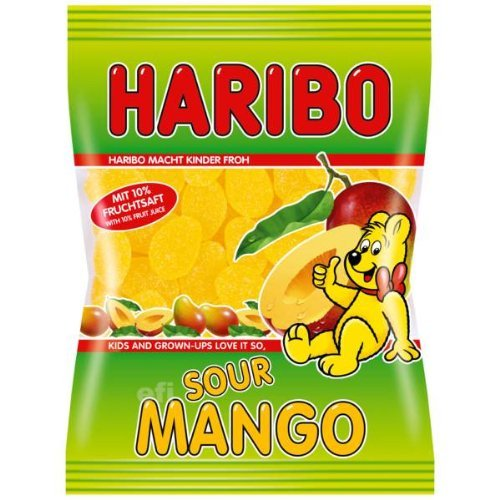 Haribo Sour Mango Gummi Candy-175 g