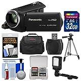 Panasonic HC-V160 HD Video Camera Camcorder with 32GB Card + Case + LED Light + Tripod + Kit