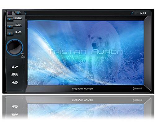 Tristan-Auron-BT2D7013A-Autoradio-65-Touchscreen-Navi-Europa-Freisprechfunktion-USBSD-Slot-CDDVD-2-DIN