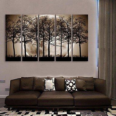 wxd-e-home-allungata-tela-arte-la-notte-sotto-le-ombre-degli-alberi-decorazione-pittura-set-di-5-12-