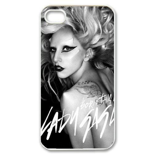 ImCase Lady Gaga hard case cover skin for iphone 4 4s, Lady Gaga Pop Dance Music iPhone 4 4s case
