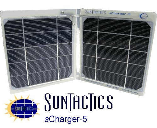 The sCharger-5 is a Powerful 5 Watt Compact Solar Charger That Can Both Charge and Actually Run At The Same Time iPhone(3,4, & 4S), iPod, Droid , HTC, Samsung, Kindle, GPS Or Any Other Portable Device Directly From The Sun