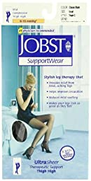 JOBST UltraSheer, Thigh CT,  Small, Classic Black