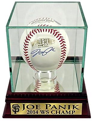 "San Francisco Giants Joe Panik Autographed 2014 World Series Baseball with Customized ""2014 WS CHAMP"" Case (COA)"