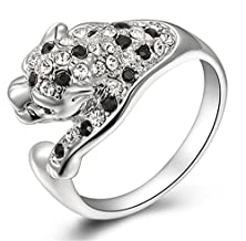 buy The Characteristic Black And White Diamond Leopard Rings