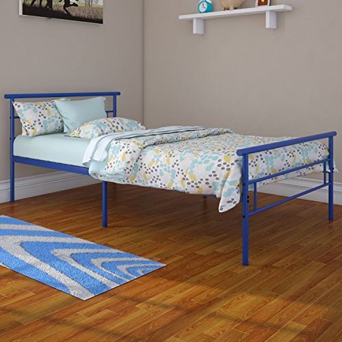 Rack Furniture Seattle Twin Metal Bed Frame Great For Kids Blue