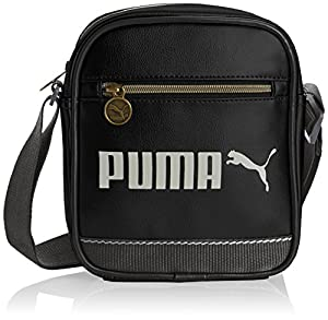 PUMA Campus Portable - Bolsa de hombro, color negro