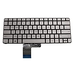 Generic Silver QWERTY Laptop US Keyboard With Backlit For HP Spectre 13T 13-3000 13-3010DX 13-3010EG 13-3010ER 13-3011TU Series New Notebook Replacement Accessories P/N:743897-001 MP-13J73USJ886