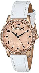 Stuhrling Original Women's 651.03 Symphony Analog Display Swiss Quartz White Watch