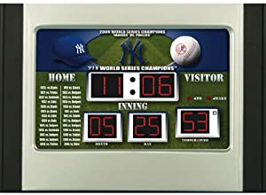 New York Yankees MLB Scoreboard Desk & Alarm Clock by Unknown
