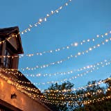 Fairy Lights with 80 Warm White LEDs on Clear Cable, Low Voltage & Connectable x 5 Set Deal by Lights4fun