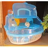 Favorite Hamster Habitat Cage Travel Portable Pet Carrier, Large