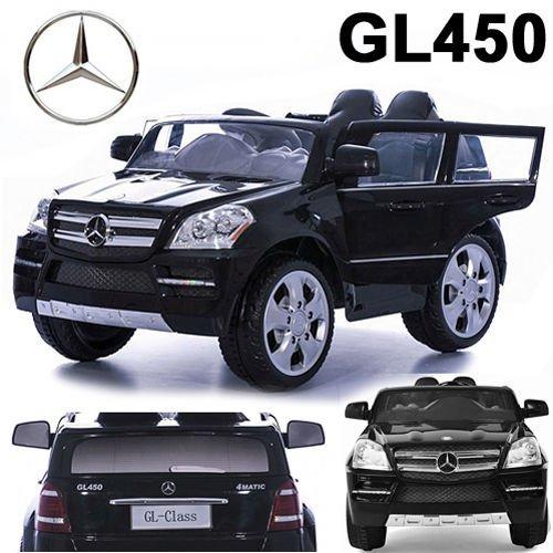 #Mercedes-Benz SUV GL450 GL 450 Jeep 12V Kinderauto Kinderfahrzeug Kinder Elektroauto (Schwarz)#